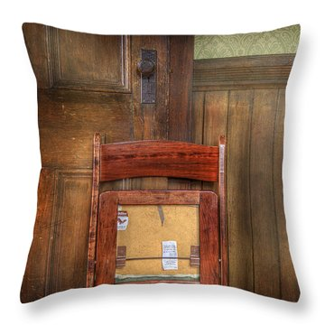 Throw Pillow featuring the photograph Church Chair II by Craig J Satterlee