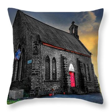 Church Throw Pillow by Charuhas Images