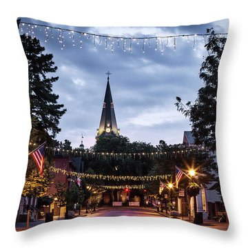 Church Circle Throw Pillow