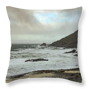 Throw Pillow featuring the photograph Church Cove Gunwallow by Brian Roscorla