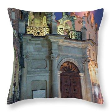 Throw Pillow featuring the photograph Church Door by Juli Scalzi