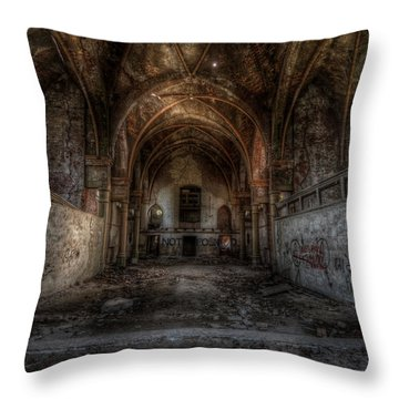 Church Empty Throw Pillow by Nathan Wright