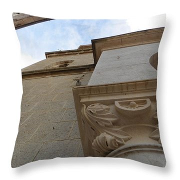 Church Facade Detail Throw Pillow