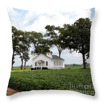 Church From The Help Movie In Mississippi Throw Pillow