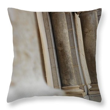 Church Gate Pillars Throw Pillow
