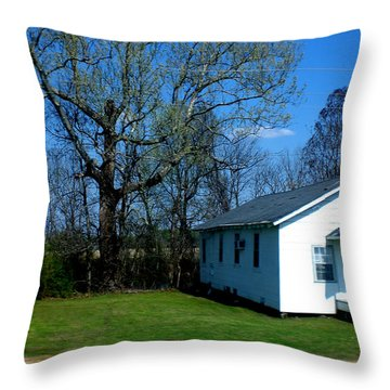 Church Highway 61 Throw Pillow