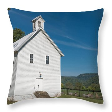 Church House In The Ozarks Throw Pillow