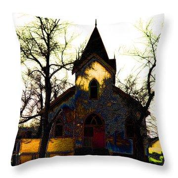 Throw Pillow featuring the digital art Church I by Stuart Turnbull