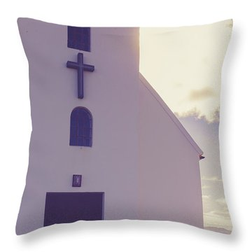 Throw Pillow featuring the photograph Church Iceland by Edward Fielding