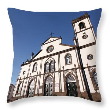 Church In Azores Islands Throw Pillow by Gaspar Avila
