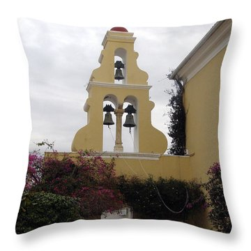Church In Corfu Throw Pillow