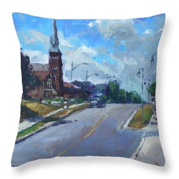 Church In Georgetown Downtown  Throw Pillow