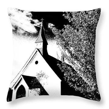 Church In Shadows Throw Pillow