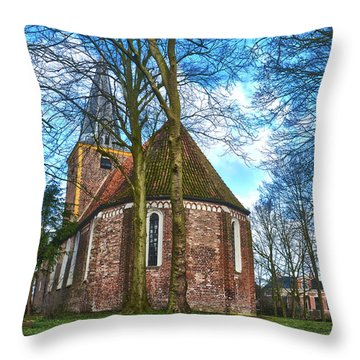 Church In Winsum Throw Pillow