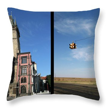 Church Throw Pillow by James W Johnson