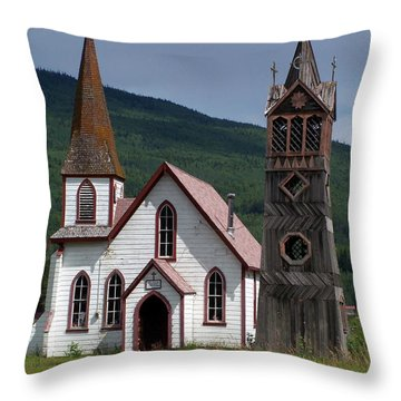 Church Throw Pillow by Marty Koch