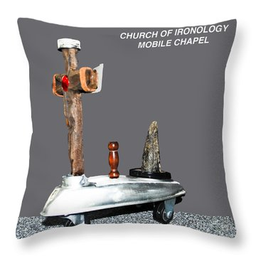 Church Of Ironology Throw Pillow
