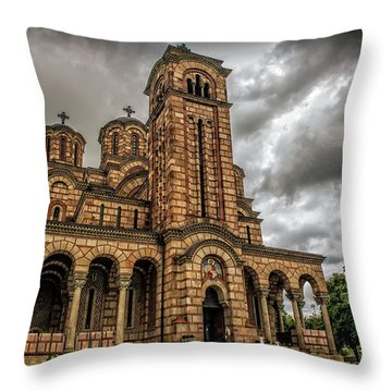 Church Of Saint Mark Throw Pillow