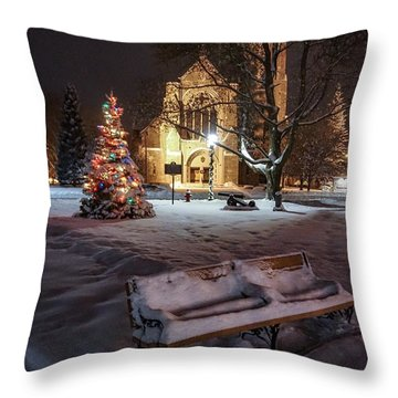 Church Of St Mary St Paul At Christmas Throw Pillow