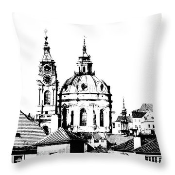 Church Of St Nikolas Throw Pillow