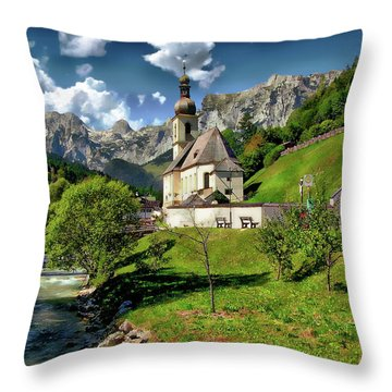 Church Of St. Sebastian Throw Pillow