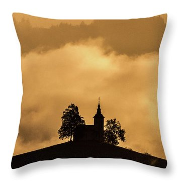 Throw Pillow featuring the photograph Church Of St. Thomas #2 - Slovenia by Stuart Litoff