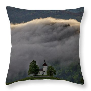 Throw Pillow featuring the photograph Church Of St. Thomas - Slovenia by Stuart Litoff
