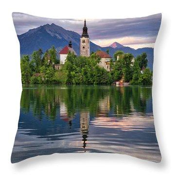 Church Of The Assumption. Throw Pillow