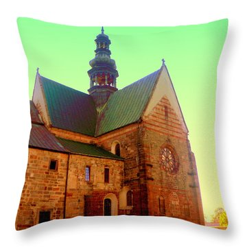 Church Of The Blessed Virgin Mary And St. Florian In The Wachock Throw Pillow
