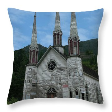 Throw Pillow featuring the photograph Church Of The Holy Cross by Rod Wiens