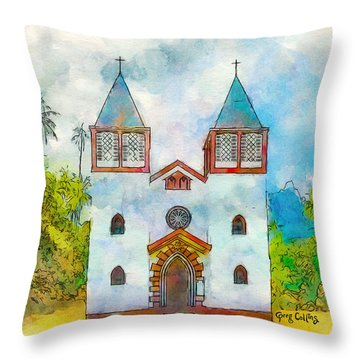 Church Of The Holy Family Throw Pillow