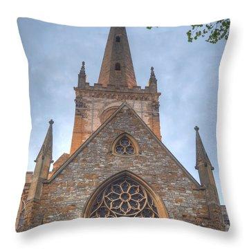 Church Of The Holy Trinity Stratford Upon Avon 1 Throw Pillow by Douglas Barnett