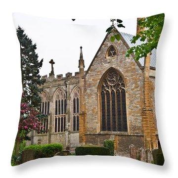 Church Of The Holy Trinity Stratford Upon Avon 3 Throw Pillow by Douglas Barnett