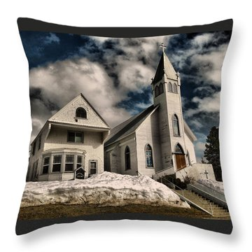 Throw Pillow featuring the photograph Church Of The Immaculate Conception Roslyn Wa by Jeff Swan