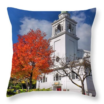 Church Of The Pilgrimage Throw Pillow