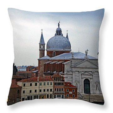 Church Of The Santissimo Redentore On Giudecca Island In Venice Italy Throw Pillow