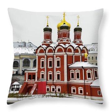 Church Of The Znamensky Monastery  Throw Pillow