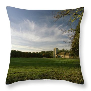 Church On The Edge Of A Forest Throw Pillow
