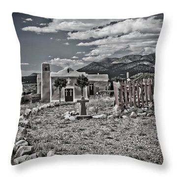 Church On The Hill Throw Pillow by Jill Smith
