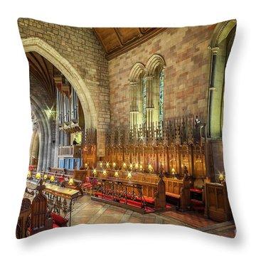 Church Organist Throw Pillow