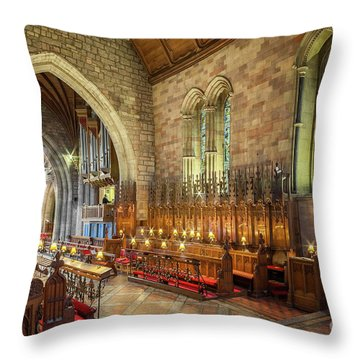 Throw Pillow featuring the photograph Church Organist by Adrian Evans