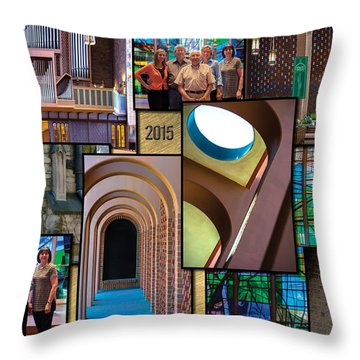 Church Photography Collage Throw Pillow by Raymond Kunst