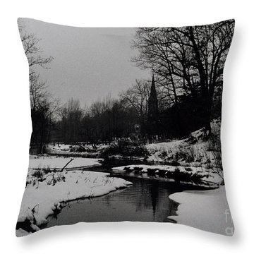 Church, Richmondtown, Staten Island Throw Pillow