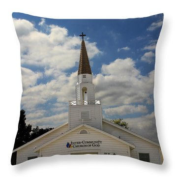 Church Throw Pillow by Robert Hebert