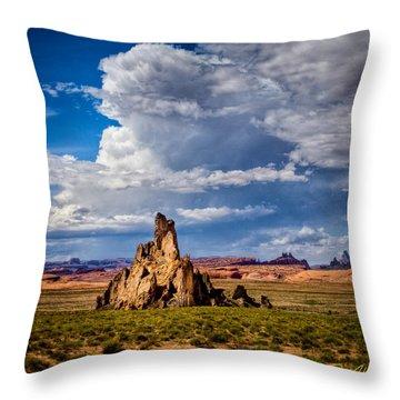 Church Rock Thunderhead Throw Pillow