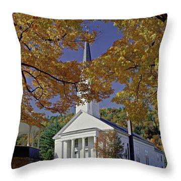 Church, Sharon Vermont Throw Pillow