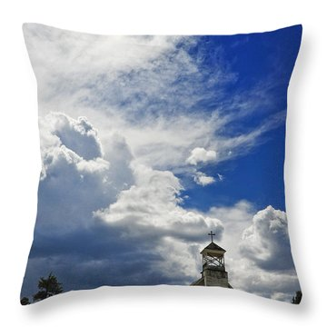 Church Throw Pillow by Skip Hunt