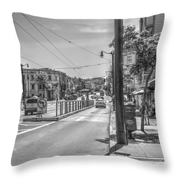 Church St At Market St San Francisco Throw Pillow