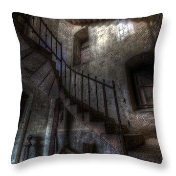 Church Stairs Throw Pillow