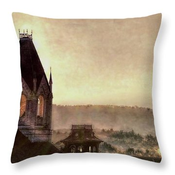 Church Steeple 4 For Cup Throw Pillow